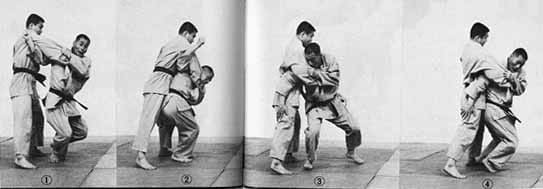 Kimura demonstrating a variation of seoinage
